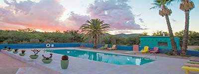 Arizona Dude Ranch Specials - Sunset Pool at Ranch de la Osa