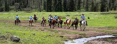 Sprucedale Ranch Riders on horseback