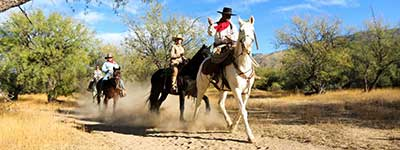 Riders at Tanque Verde Ranch